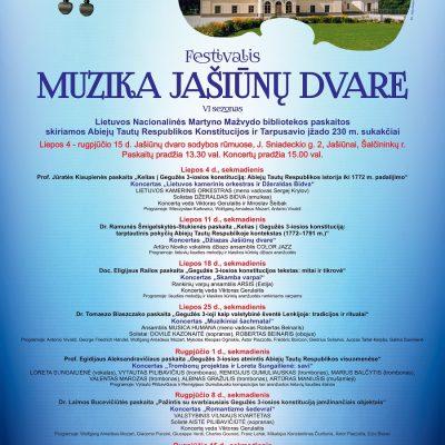 """Festivalis """"Muzika Jašiūnų dvare"""""""